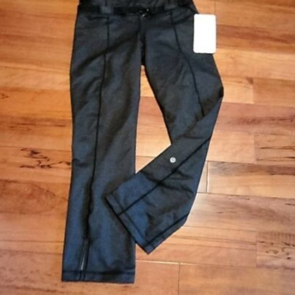 LULULEMON METHOD PANTS BLACK DENIM NWT SIZE 6